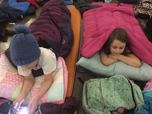 Second and Third Grade Sleepover Success!