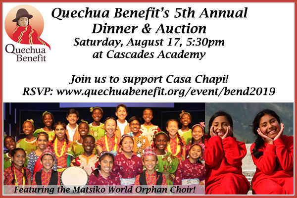Save the Date: Quechua Benefit, 8/17